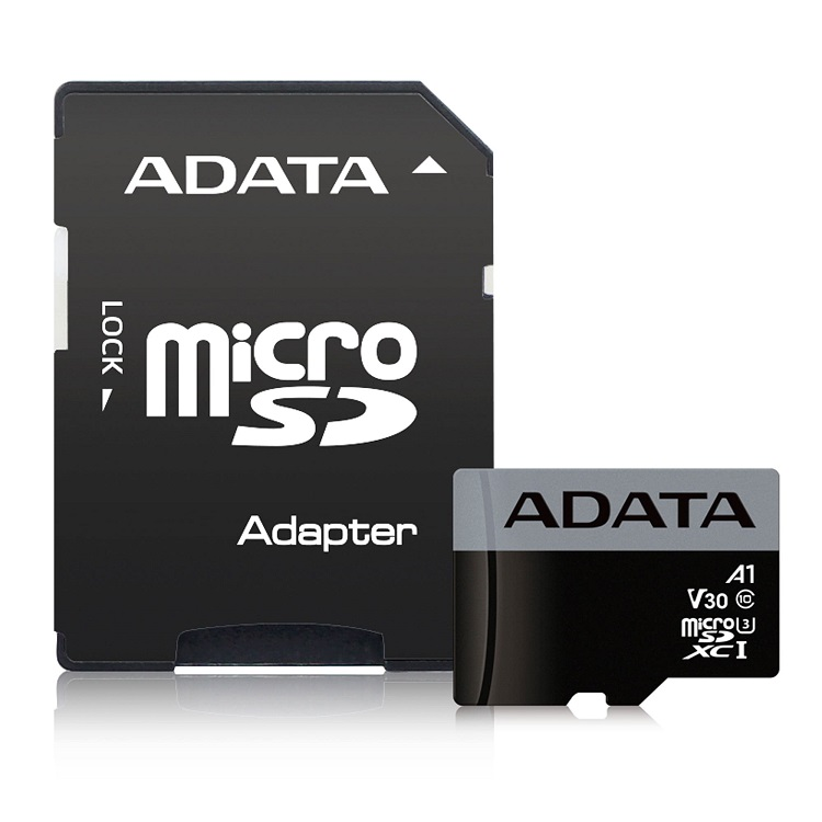 Карта памяти 32GB ADATA Premier Pro microSDXC UHS-I U3 Class 10(V30S) 100/60 (MB/s) c адаптером adata s805 32gb gray