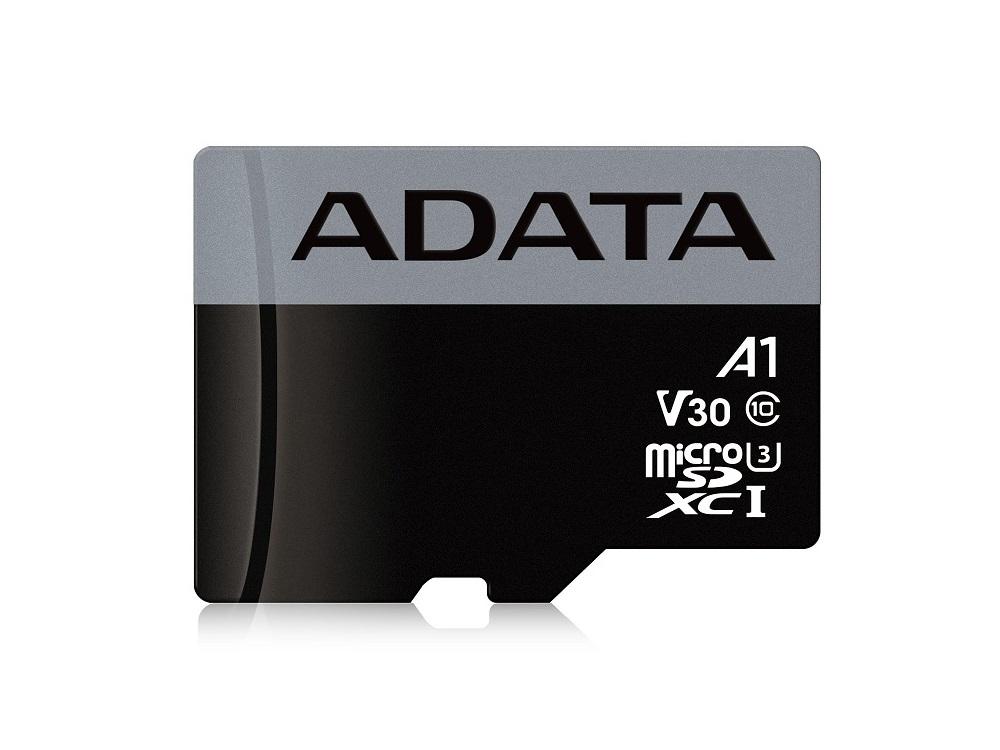 Карта памяти 64GB ADATA Premier Pro microSDXC UHS-I U3 A1 Class 10(V30S) 100MB/60MB/s transcend sdxc class 10 uhs i u3х 64gb карта памяти