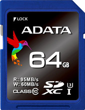 Карта памяти 64GB Premier Pro SDXC UHS-I U3 Class 10 (V30S) 100/60MB/s adata premier sdxc sdhc uhs i class10 32gb memory card blue