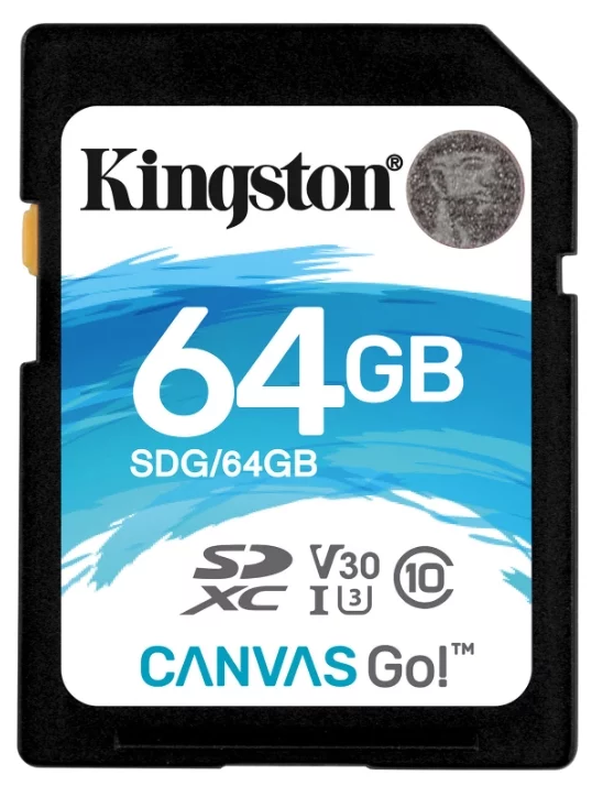 Карта памяти SDXC 64Gb Class10 Kingston SDG/64GB Canvas Go w/o adapter