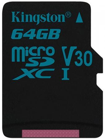 цена на Карта памяти MicroSDXC 64GB Kingston Class UHS-I U3 V30 Canvas Go [SDCG2/64GBSP]