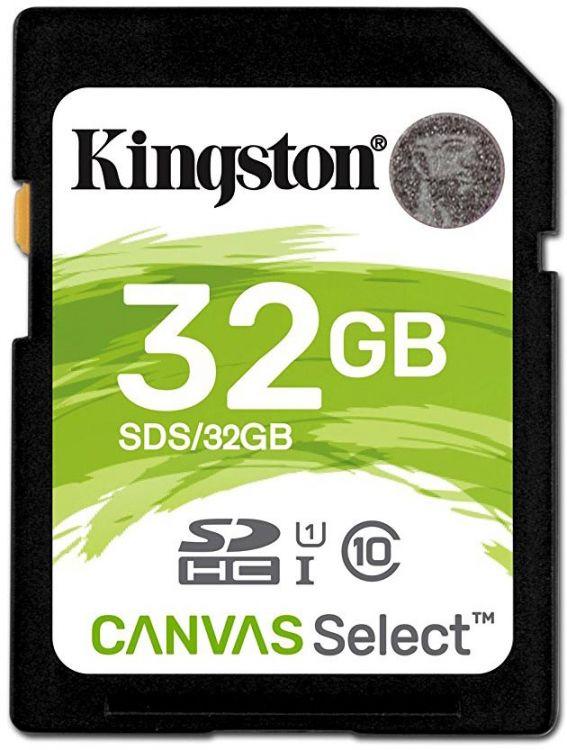 Карта памяти SDHC 32Gb Class10 Kingston UHS-I Canvas Select (SDS/32GB) карта памяти kingston 32gb sdhc class 10 uhs i u3 sd адаптер sdca3 32gb