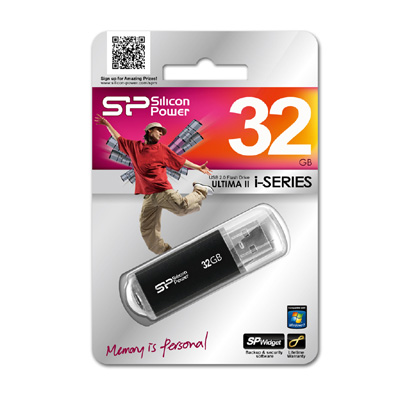 USB флешка Silicon Power Ultima II I-series Black 32GB (SP032GBUF2M01V1K) сумка bottega veneta 283363 bv