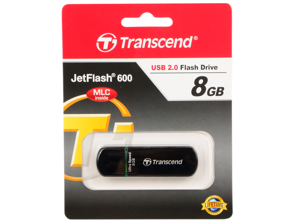 USB флешка 8GB USB Drive (USB 2.0) Transcend 600 (TS8GJF600) цена
