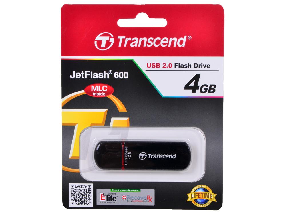 USB флешка 4GB USB Drive (USB 2.0) Transcend 600 (TS4GJF600)