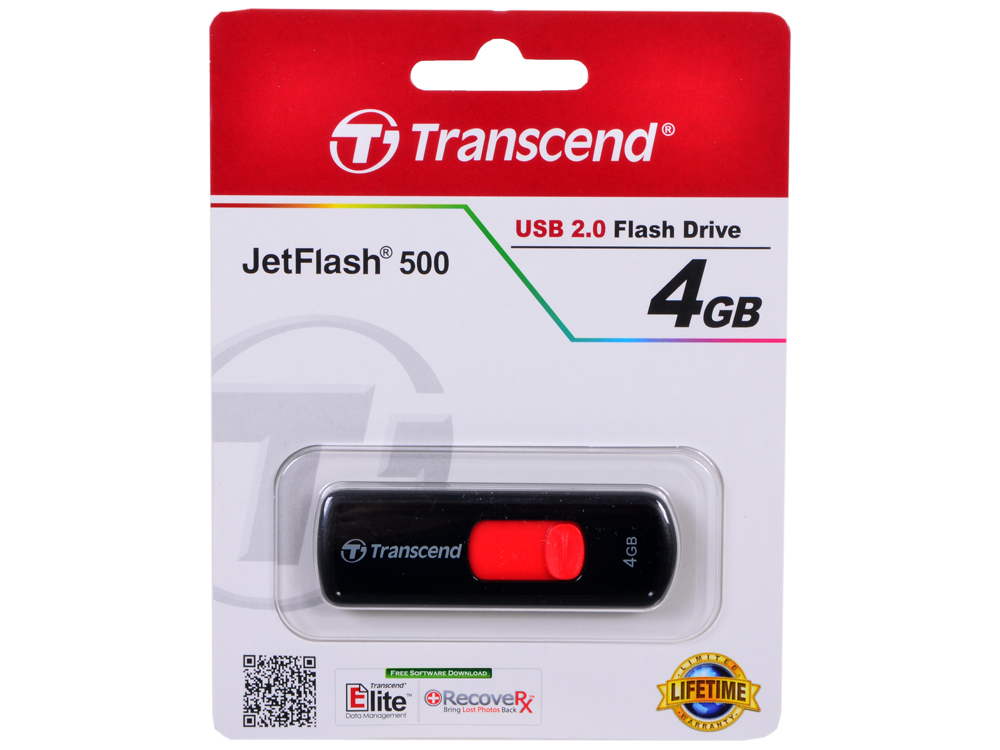 USB флешка Transcend 500  4GB (TS4GJF500)