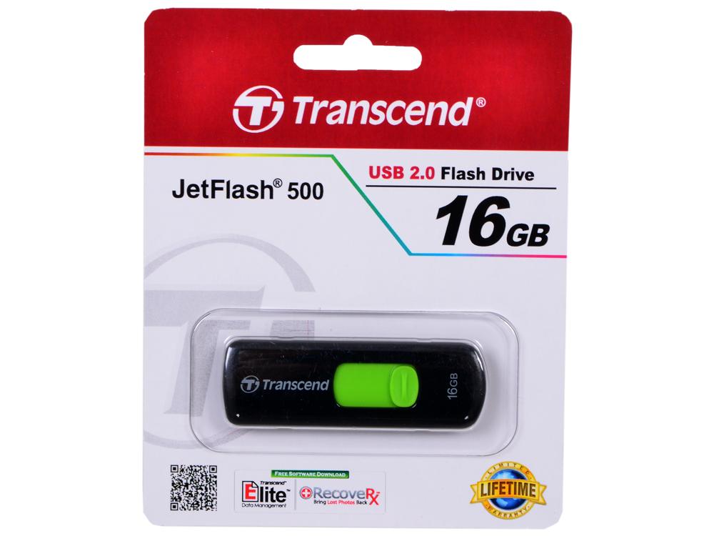 USB флешка Transcend 500 16GB (TS16GJF500) флеш диск transcend jetflash 500 16gb ts16gjf500