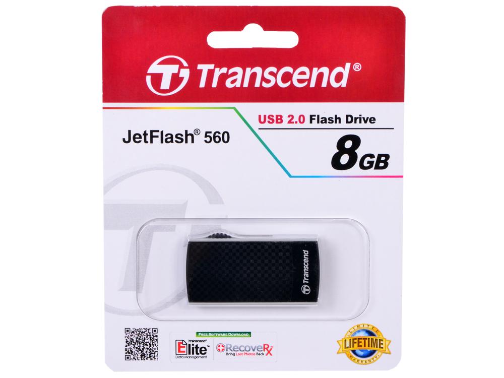 Внешний накопитель 8GB USB Drive (USB 2.0) Transcend 560 (TS8GJF560)