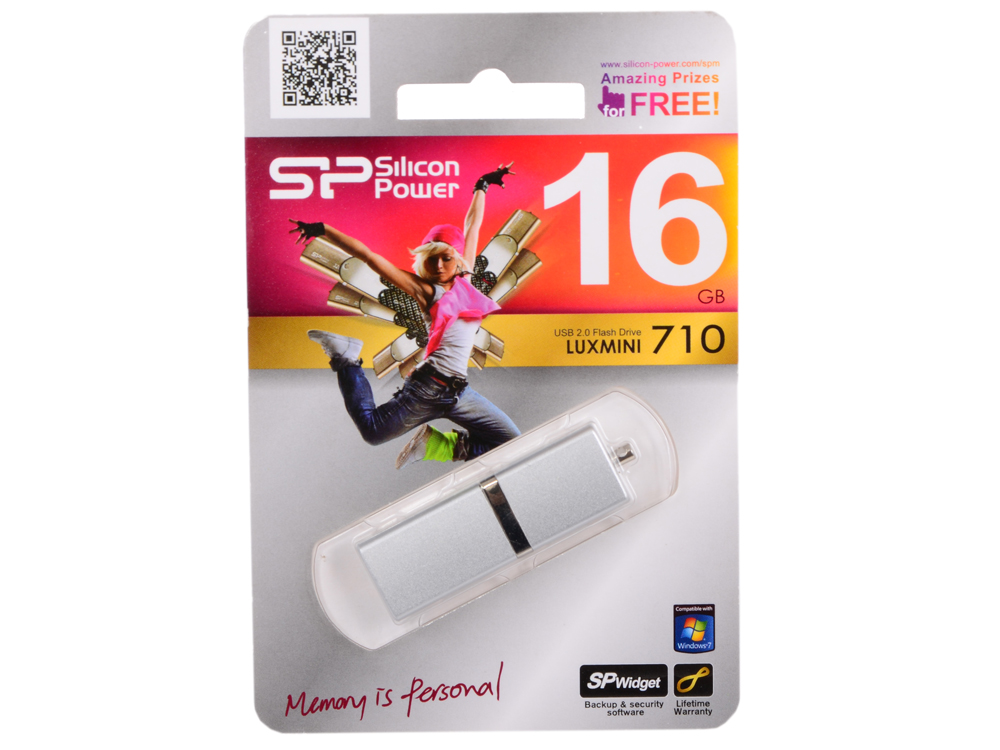 Внешний накопитель Silicon Power LuxMini 710 Silver 16GB (SP016GBUF2710V1S)