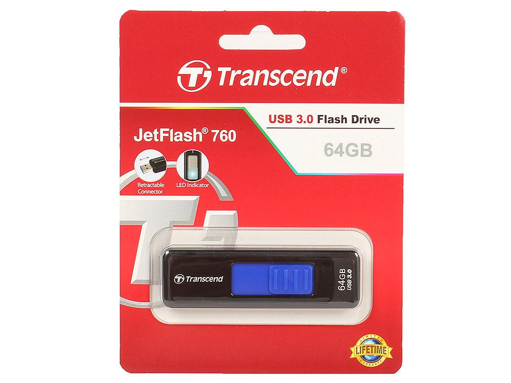все цены на USB флешка Transcend 760 64GB Black (TS64GJF760) USB 3.0
