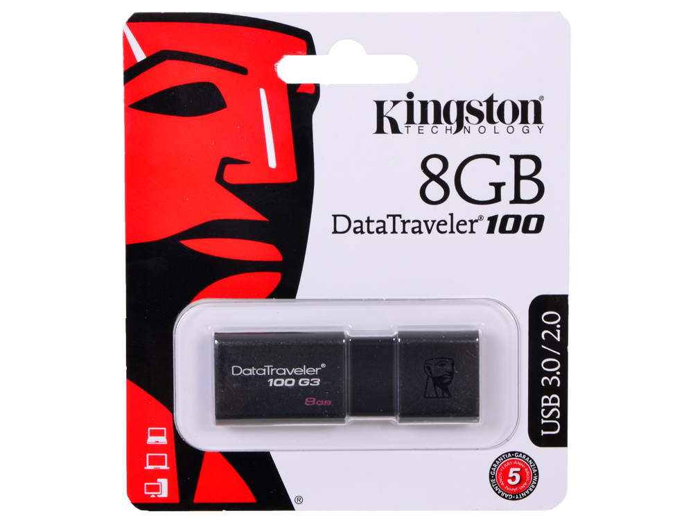 USB флешка Kingston DT100G3  8GB (DT100G3/8GB)