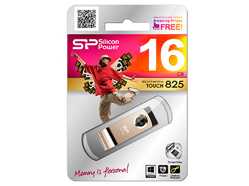 USB флешка Silicon Power Touch 825 16GB Champagne (SP016GBUF2825V1C) USB 2.0 флешка usb 16gb silicon power mobile x20 sp016gbuf2x20v1k серебристый