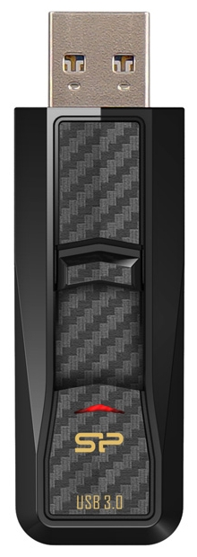 Внешний накопитель Silicon Power Blaze B50 32GB Black Carbon (SP032GBUF3B50V1K)