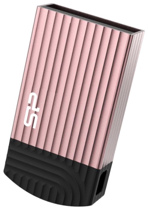Внешний накопитель 32GB USB Drive  Silicon Power Jewel J20 Pink (SP032GBUF3J20V1P) iznc znc 005 universal quick charging 1a usb charger power adapter white 100 240v us plug