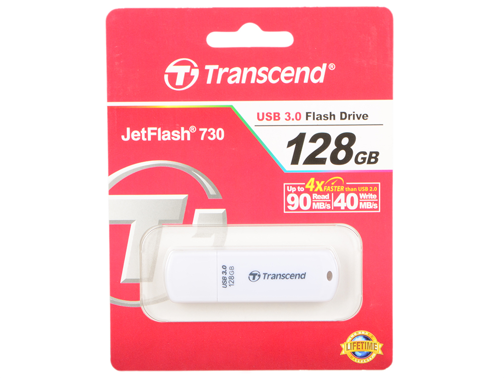 Флешка USB 128Gb Transcend Jetflash 730 TS128GJF730 белый transcend jetflash 700 128gb черный