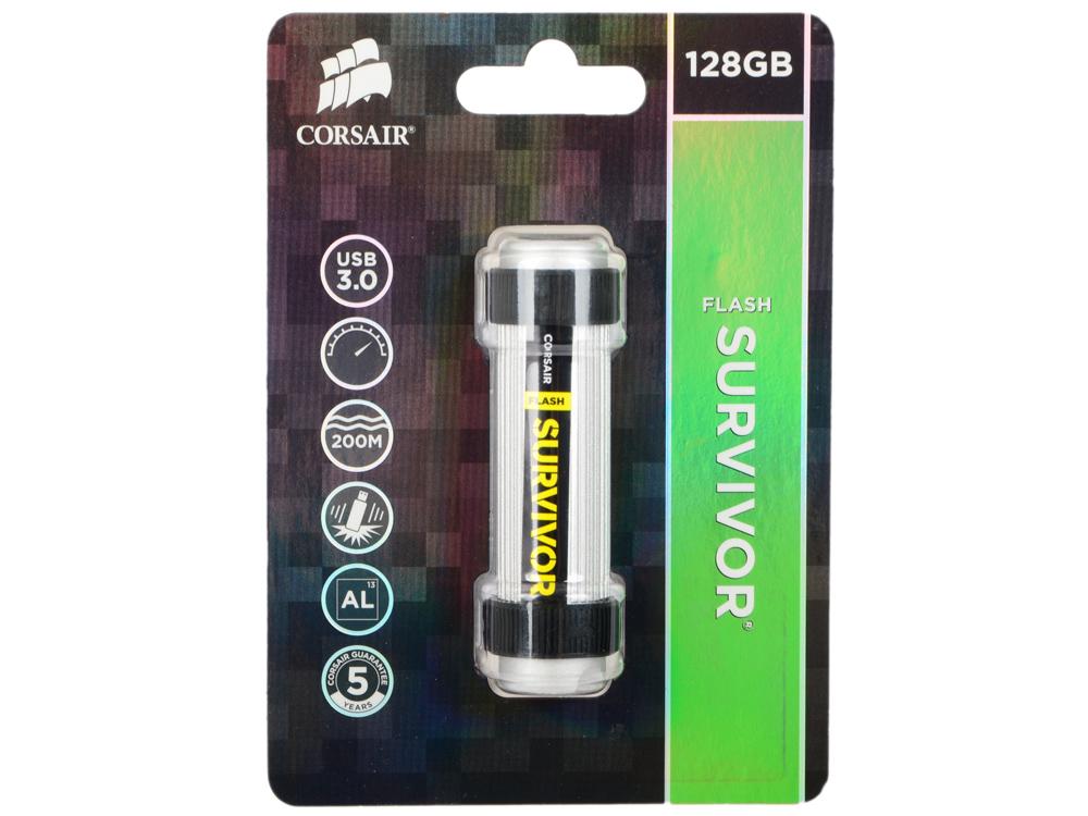 Флешка USB 128Gb Corsair Survivor CMFSV3B-128GB серебристый/черный survivor