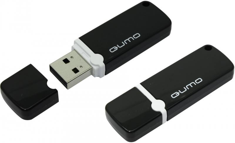 Флешка USB 8Gb QUMO Optiva 02 USB2.0 черный QM8GUD-OP2-black