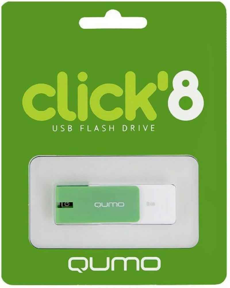 Флешка USB 8Gb QUMO Click USB2.0 зеленый QM8GUD-CLK-Mint
