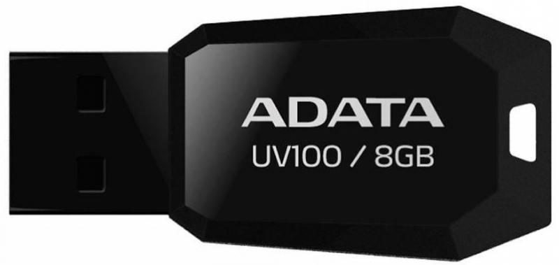 Флешка USB 8Gb A-Data UV100 AUV100-8G-RBK черный