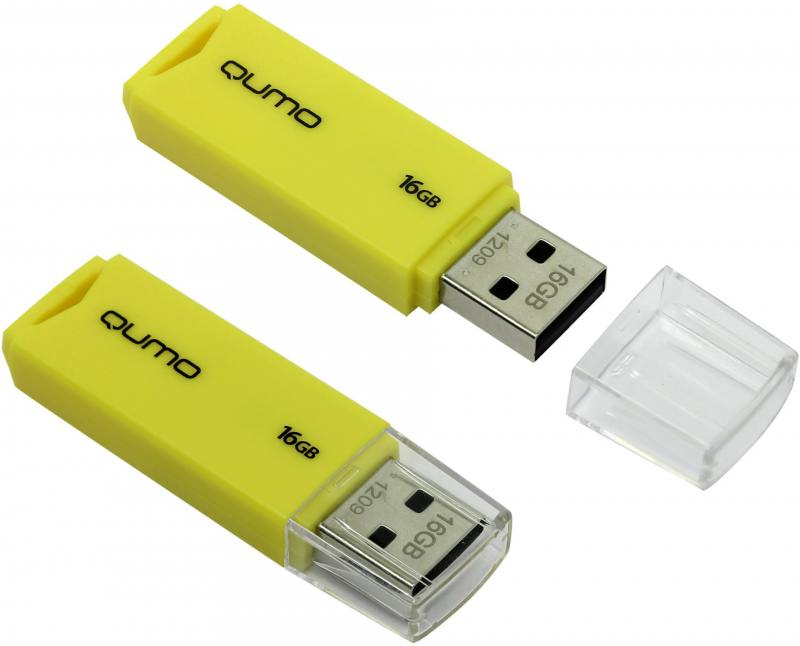 USB флешка QUMO Tropic 16GB Green (QM16GUD-TRP-Yellow) USB 2.0 usb флешка qumo keeper 16gb silver qm16gud keep usb 2 0 microusb