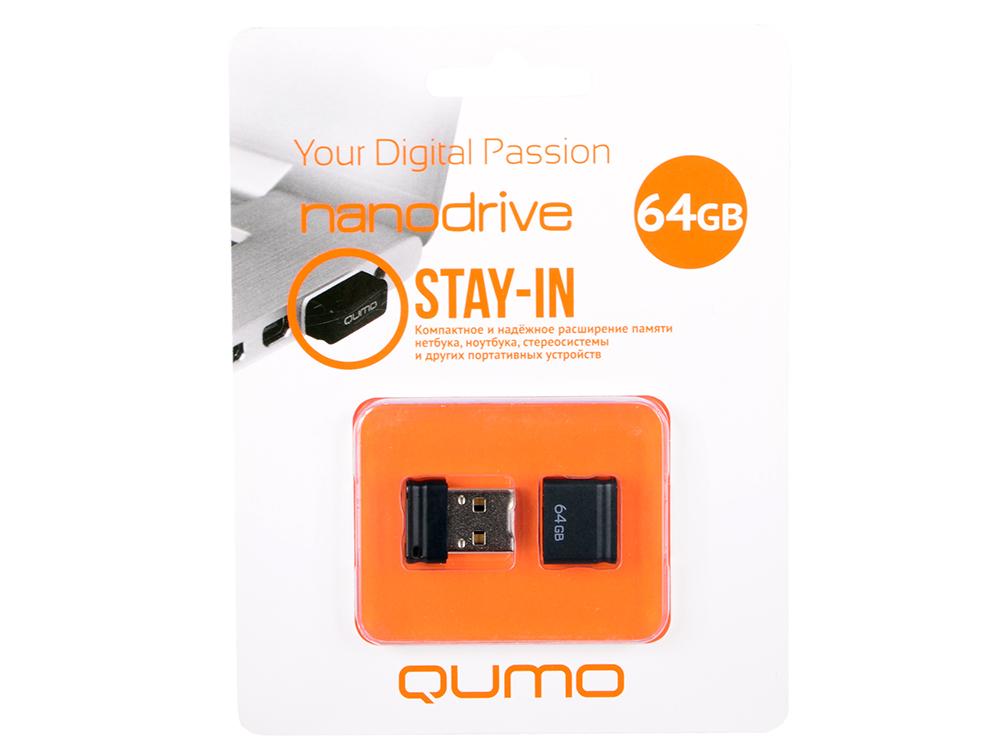 купить USB флешка QUMO NanoDrive 64GB Black (QM64GUD-NANO-B) USB 2.0 недорого