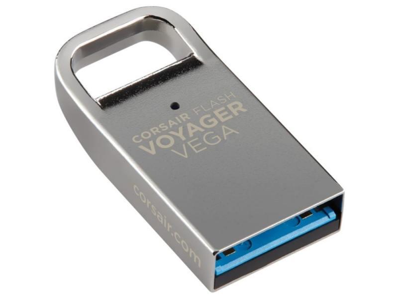Флешка USB 64Gb Corsair Voyager Vega CMFVV3-64GB серебристый флешка usb corsair voyager vega 32гб usb3 0 серебристый [cmfvv3 32gb]