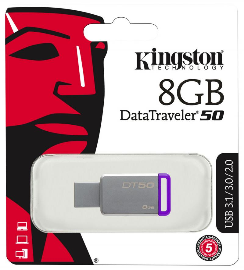 Флешка USB 8Gb Kingston DataTraveler DT50/8GB