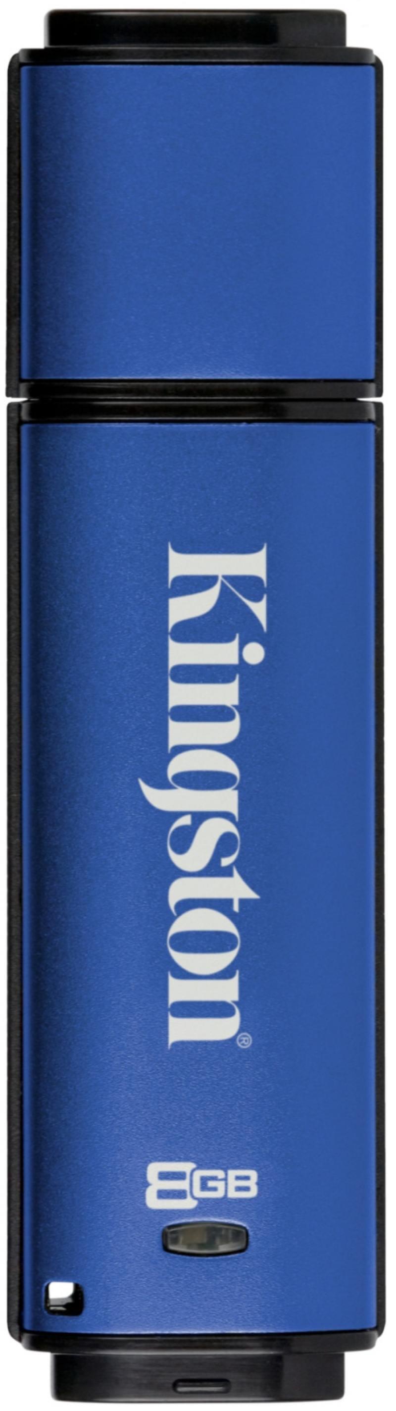 Флешка USB 8Gb Kingston DataTraveler Vault Privacy DTVP30/8GB синий