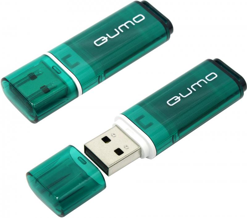 USB флешка QUMO Optiva 01 16GB Green (QM16GUD-OP1-green) USB 2.0 usb флешка qumo keeper 16gb silver qm16gud keep usb 2 0 microusb