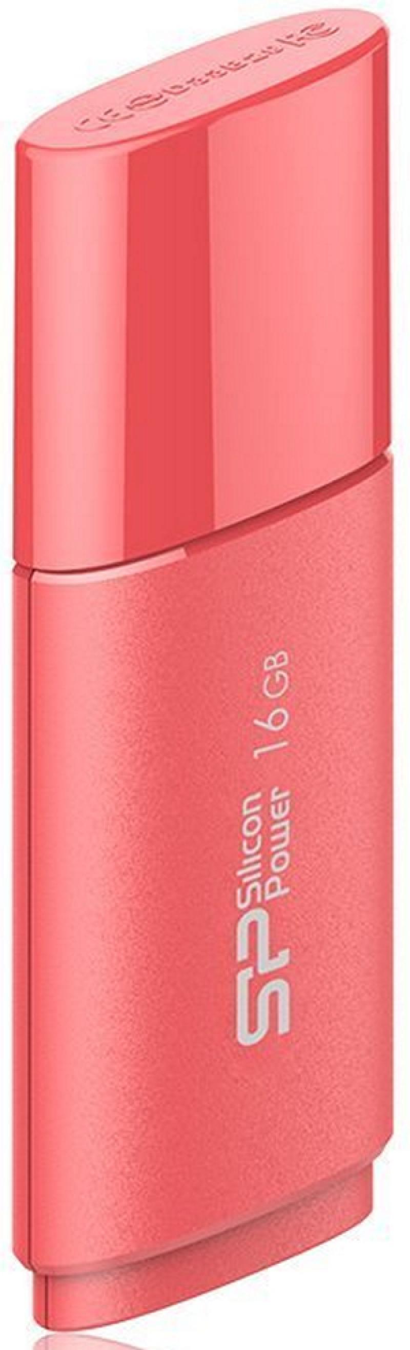 Внешний накопитель USB 16Gb Silicon Power Ultima U06 SP016GBUF2U06V1P USB2.0 peach red розовый