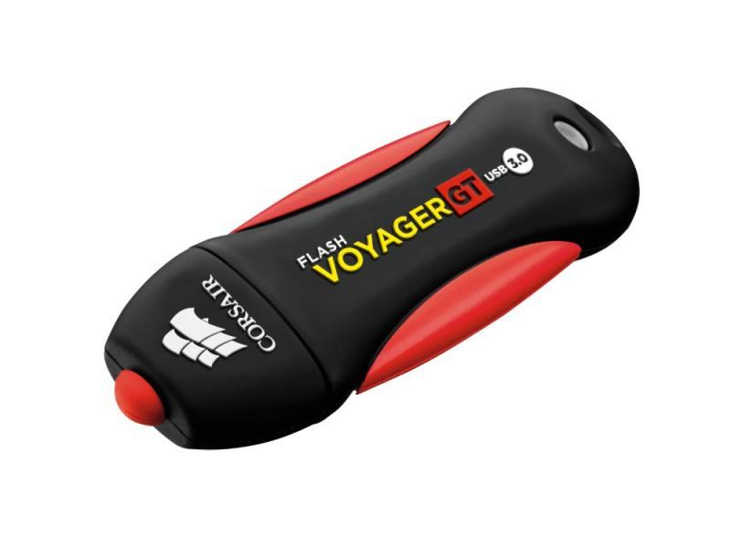 Флешка USB 32Gb Corsair Voyager GT CMFVYGT3B-32GB черный красный флешка usb 32gb corsair voyager slider x2 cmfsl3x2 32gb черно голубой