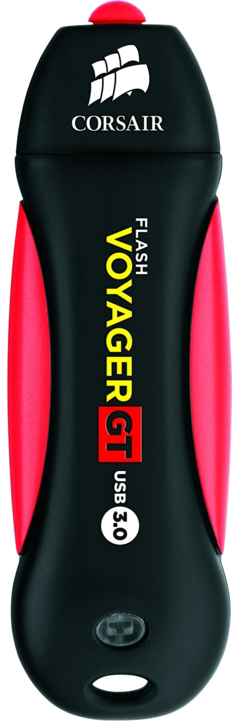 Флешка USB 128Gb Corsair Voyager GT USB3.0 CMFVYGT3B-128GB черно-красный usb flash накопитель 128gb kingston hyperx hxs3 128gb usb3 1 черный