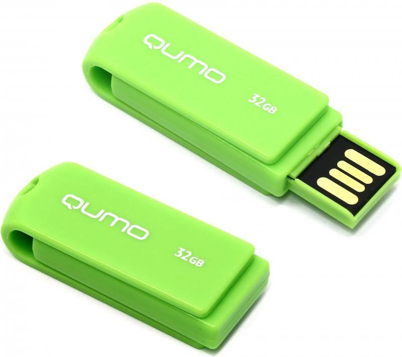 USB флешка QUMO Twist Pistachio 32GB Green (QM32GUD-TW-Pistachio) USB 2.0 jump pistachio hangzhou native