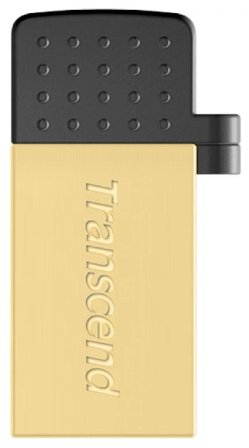 USB флешка Transcend Jetflash 380 OTG 8GB Gold (TS8GJF380G) USB 2.0 флеш накопитель transcend 8gb jetflash 380 usb 2 0 металл золото ts8gjf380g