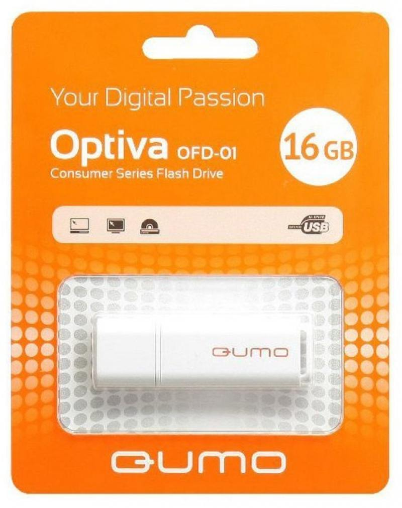 USB флешка QUMO Optiva 01 16GB Green (QM16GUD-OP1-white) USB 2.0 usb флешка qumo keeper 16gb silver qm16gud keep usb 2 0 microusb