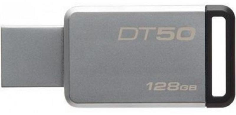 USB флешка Kingston DataTraveler 50 128GB Silver (DT50/128GB) USB 3.1 / 110 МБ/cек / 15 МБ/cек флешка usb 128gb corsair voyager go cmfvg 128gb черный