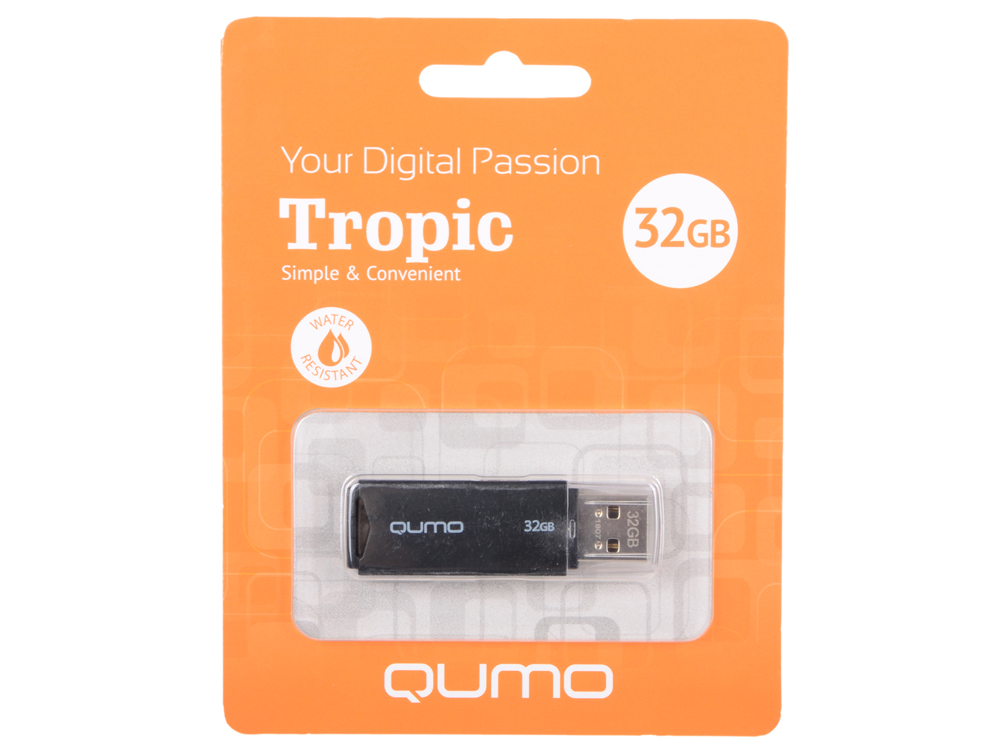 купить USB флешка QUMO Tropic 32Gb Black (QM32GUD-TRP-Black) USB 2.0 по цене 286 рублей