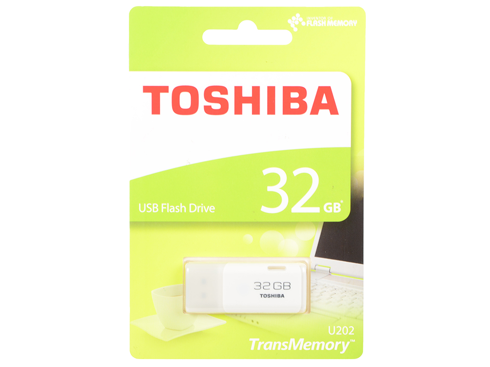 Флешка USB 32Gb Toshiba Hayabusa THN-U202W0320E4 USB 2.0 белый 1x new usb 2 0 connector plug socket jack long 1cm for toshiba l300 l300d l305 l305d series