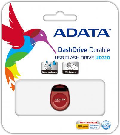 USB флешка A-Data UD310 8GB Red (AUD310-8G-RRD) USB 2.0 / 15 Мб/сек / 5 Мб/сек