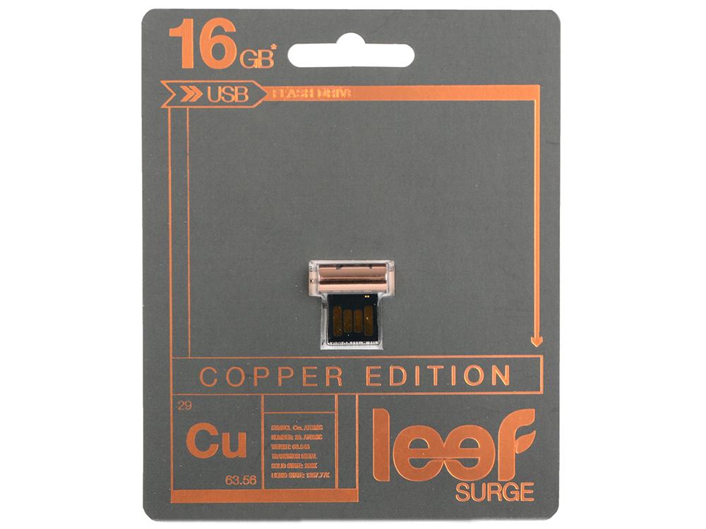 все цены на Внешний накопитель 16GB Leef SURGE copper (LFSUR-016COP) онлайн