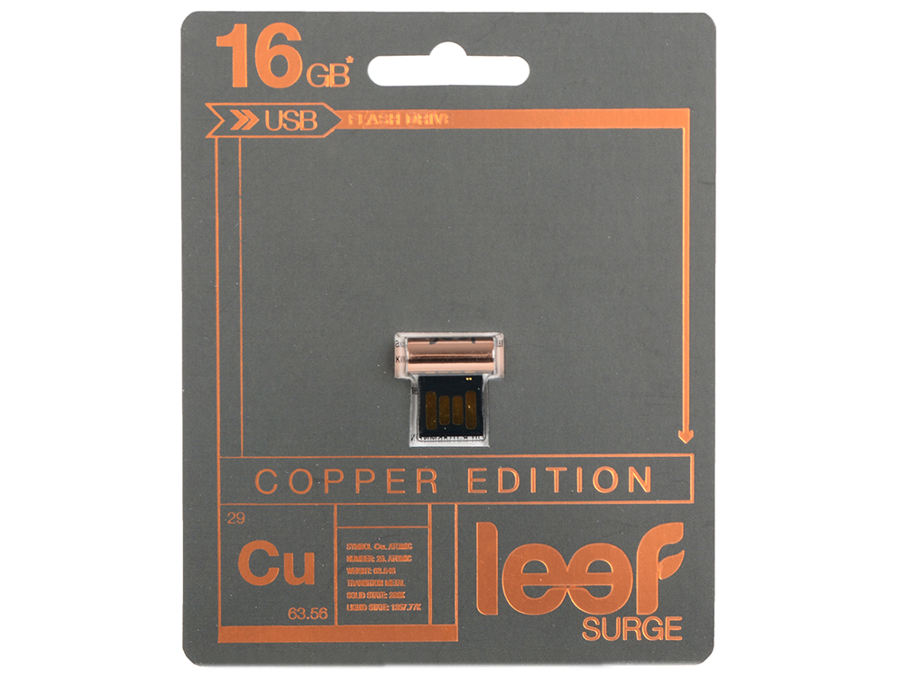 Внешний накопитель 16GB Leef SURGE copper (LFSUR-016COP) wifi smart socket plug schedule function app remote control electronics energy saving for smartphone tablet ac 100 250v eu plug