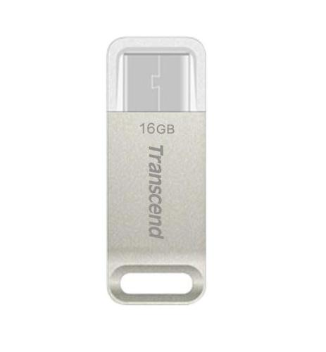 Внешний накопитель 16GB Transcend JetFlash 850 <USB 3.1 & USB Type C> OTG (TS16GJF850S)