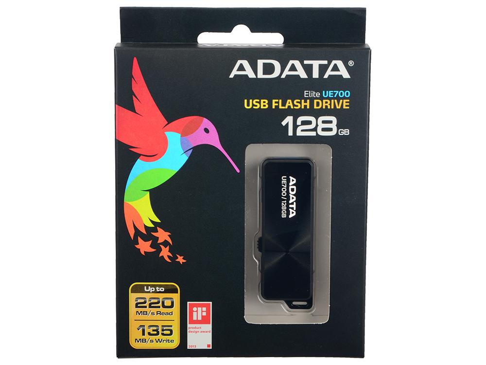 Внешний накопитель 128GB A-Data UE700 (USB 3.0)  220/120мб/с (AUE700-128G-CBK) usb накопитель corsair 128gb voyager go cmfvg 128gb черный cmfvg 128gb