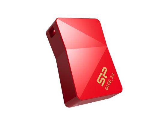 USB флешка Silicon Power Jewel J08 64GB Red (SP064GBUF3J08V1R) USB 3.0 флешка usb silicon power jewel j05 16гб usb3 0 черный [sp016gbuf3j05v1k]