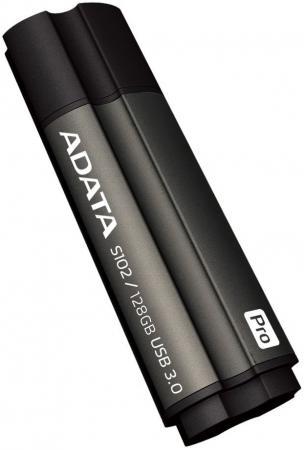 USB флешка A-Data S102 Pro 128GB Grey (AS102P-128G-RGY) USB 3.0 / 100 МБ/cек / 50 МБ/cек