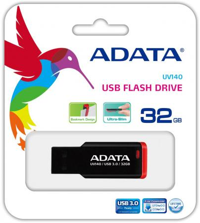 USB флешка A-Data UV140 32GB Black Red (AUV140-32G-RKD) USB 3.0