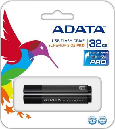 USB флешка A-Data S102P 32GB Grey (AS102P-32G-RGY) USB 3.0 / 100 МБ/cек / 50 МБ/cек
