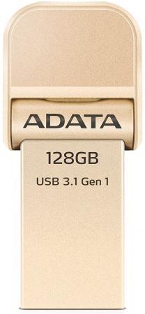 Флешка USB 128Gb A-Data AI920 AAI920-128G-CGD золотистый USB 3.1/Lightning usb накопитель corsair 128gb voyager go cmfvg 128gb черный cmfvg 128gb