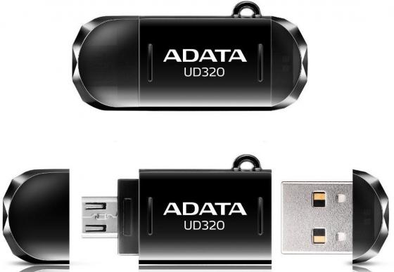 USB флешка A-Data DashDrive Durable UD320 64GB Black (AUD320-64G-RBK) USB 2.0, microUSB / 15 МБ/cек / 5 МБ/cек