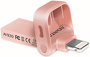 Флешка USB 128Gb A-Data i-Memory AI920 AAI920-128G-CRG розовое золото USB 3.1/Lightning usb накопитель corsair 128gb voyager go cmfvg 128gb черный cmfvg 128gb